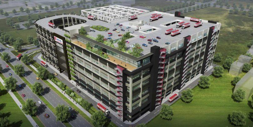 yang kee integrated logistics hub construction plus asia. Black Bedroom Furniture Sets. Home Design Ideas