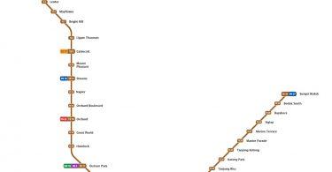 MRT Thomson East Line Map