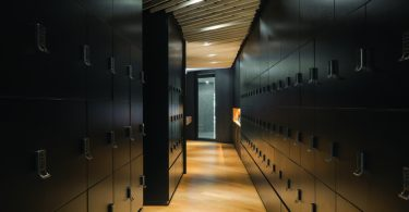 Lockers for staff to store personal belongings to replace the use of desk drawers