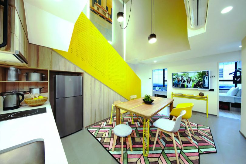 The six-bedroom apartment